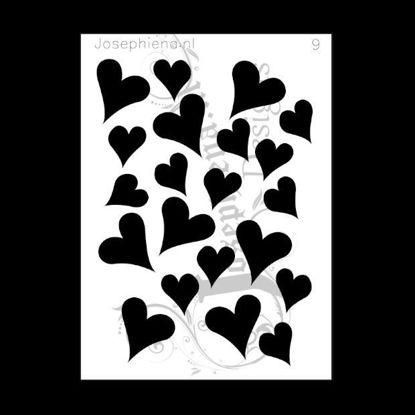 Picture of Hearts - stencil