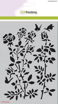 CraftEmotions Mask stencil - Botanical Rose Garden A5